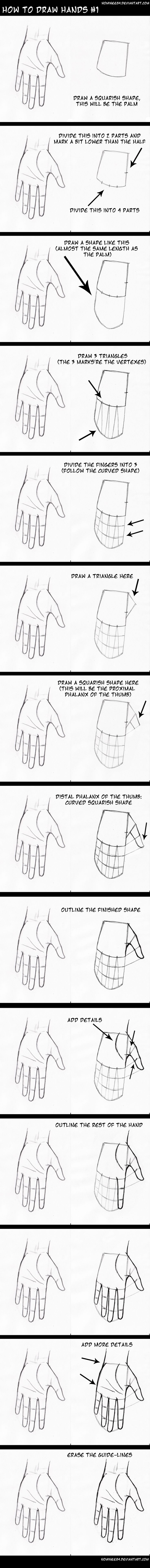 how to draw hands1 by nominee84 on DeviantArt