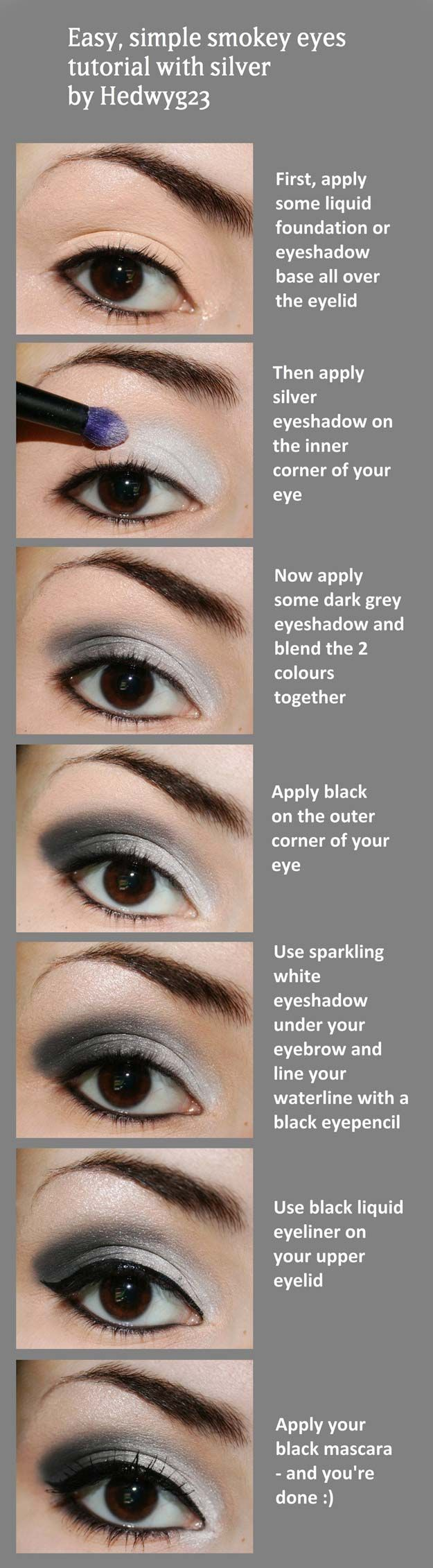 Step by Step Smokey Eye Tutorials - Easy and Simple - Step by Step Tutorials on How to Apply Different Eyeshadows for Smokey Eyes - Awesome Looks for Brown, Black, and Blue Eyes, Natural Looks, and Looks for All Types of Lashes - thegoddess.com/step-by-step-smokey-eye