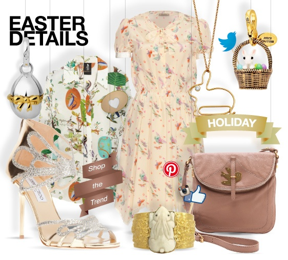 Easter details - shopthemagazine.com #easter #rabbit #butterflies #birds #print