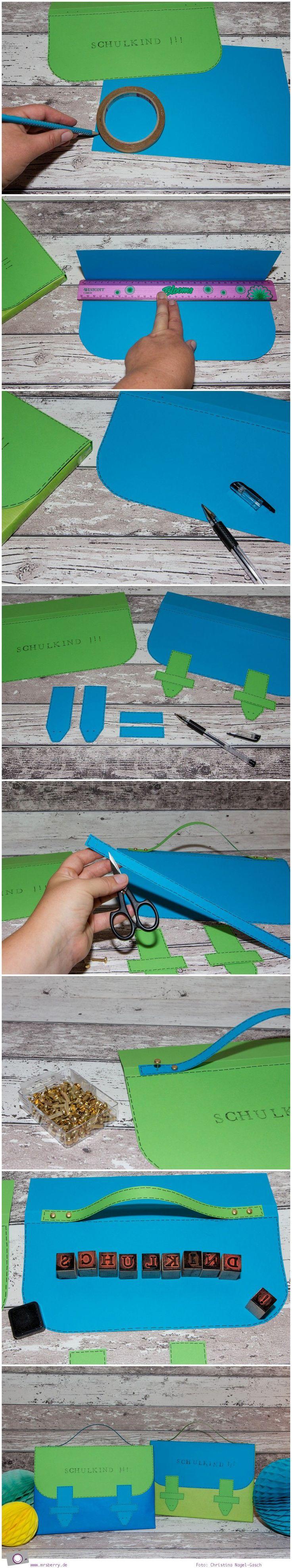 Step-by-Step Tutorial: Buch als Schulranzen zum Schulanfang verpacken…