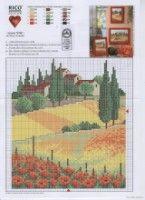 Gallery.ru / Фото #2 - Триптих маковое поле - embroidery