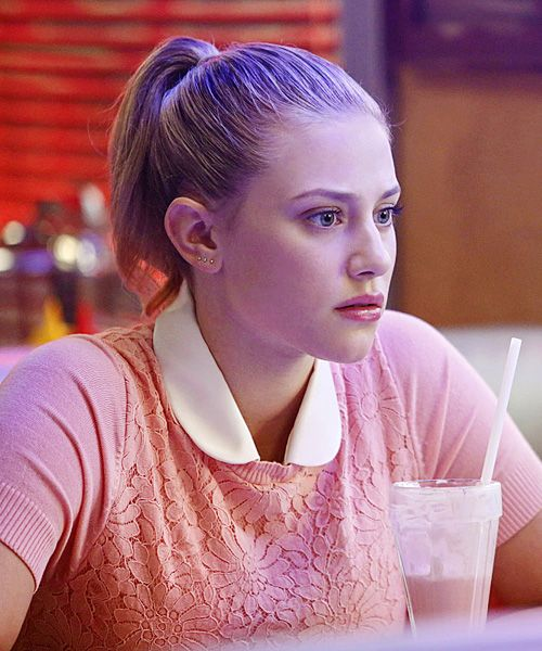 Image result for betty cooper with a ponytail and without one