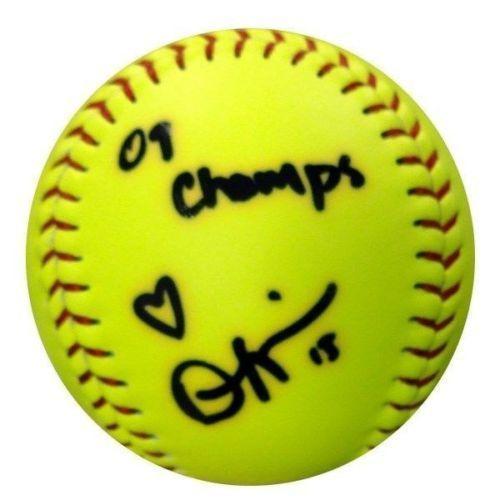 "Danielle Lawrie Autographed NCAA Worth Softball Washington Huskies """"09 Champs"""" MCS Holo"