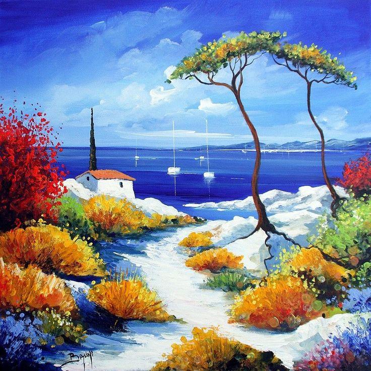 Les 17 meilleures images du tableau Peinture bord de mer sur Pinterest | Acryliques, Aquarelles ...