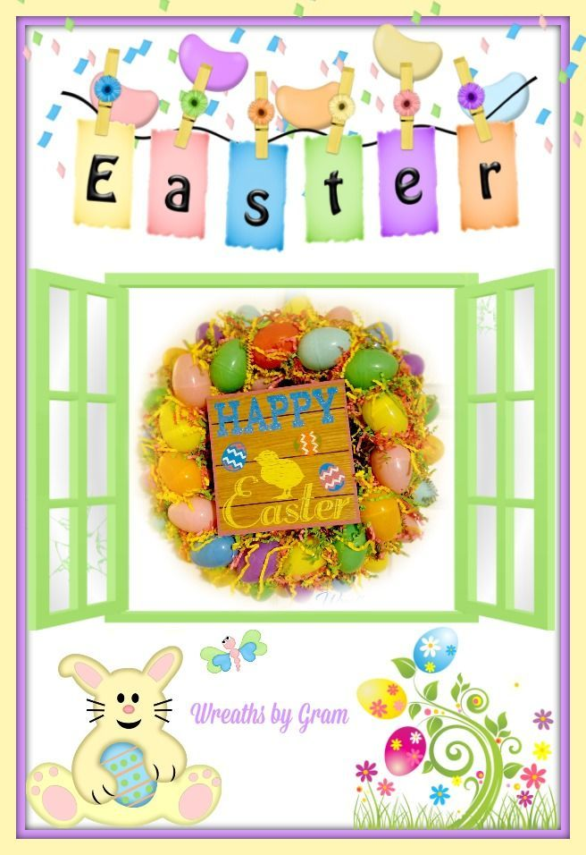 Easter Egg Wreath; Easter Decorations; Easter Wreath; Spring Wreaths; Easter Ideas; Easter Party; Easter Decor; Wreaths for Front Door; Easter Eggs; #Easter #eastereggs #easterbunny #spring #HappyEaster #easterdecor #springdecor #springwreaths #easterwreath