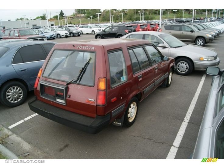 toyota tercel sr5 4wd wagon for sale | Wine Red Metallic 1987 Toyota Tercel SR5 4WD Wagon Exterior Photo ...