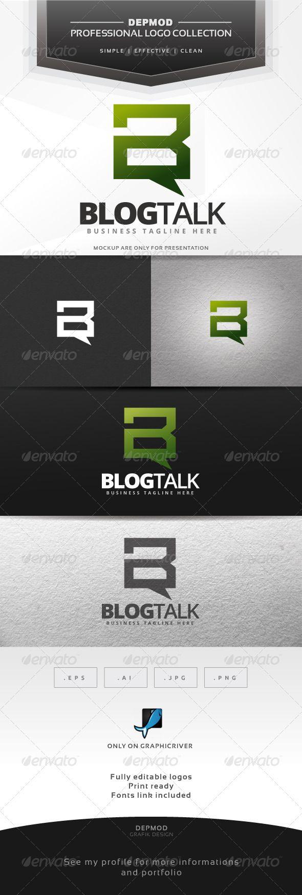 Blog Talk Logo 965 best Letter Logo