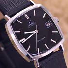 VINTAGE MEN'S OMEGA GENEVE AUTOMATIC DATE CAL.1481 ANALOG DRESS LEATHER WATCH