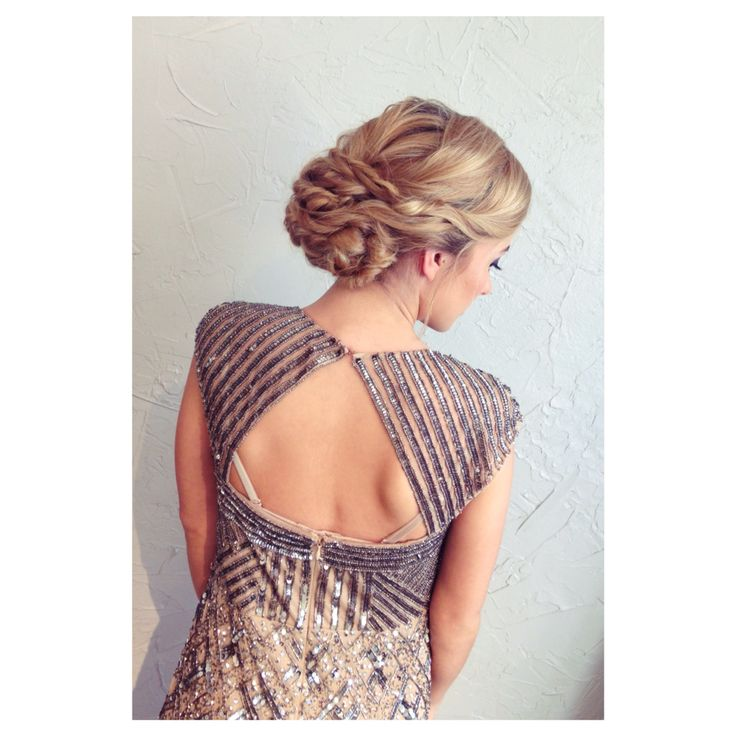 Wedding style, twisted updo