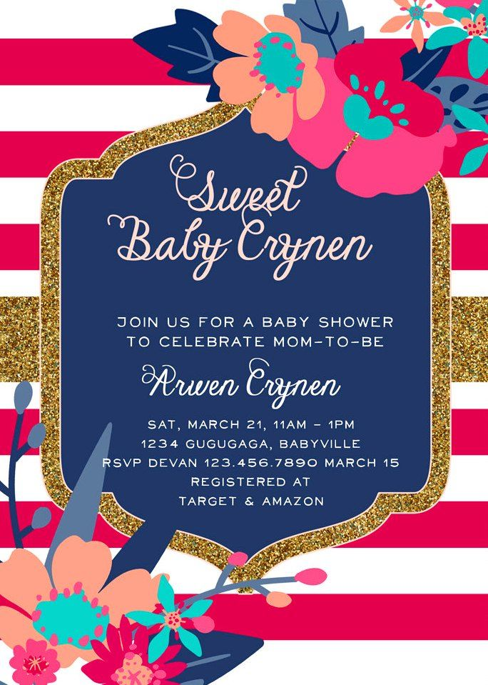 cheap baby shower invitations for girl 2