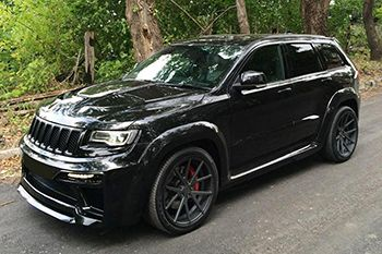 The ultimate in UK silly Jeep action. 800hp SRT8. Not worth the money in the UK (<10mpg in town) but probably a ridiculous amount of fun.