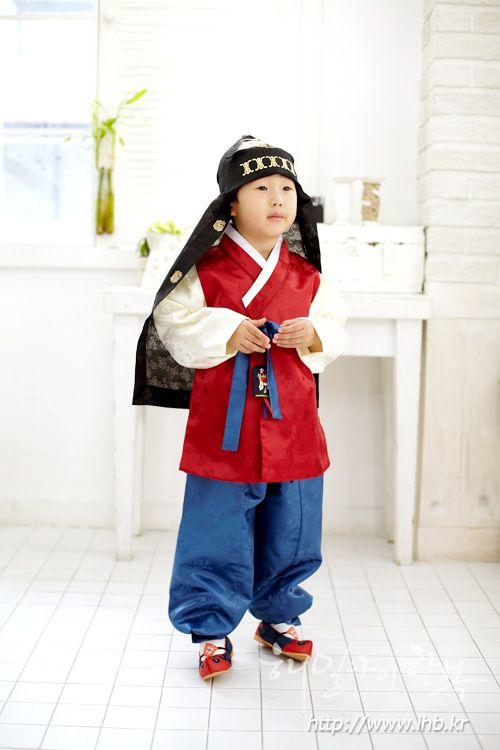 해밀아이 아동한복 /  긴배자 - 자양민대청 (양단)  - 모자. 노리개. 신발등 추가구매 가능