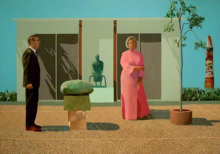 David Hockney, Fred and Marcia Weisman.  Sadly, they split.