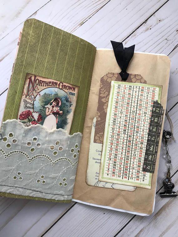Travelers Notebook Junk Journal Insert Junk Journal Vintage Journal Journal Handmade Junk Journal Ooak Journal Tn Insert Birds Junk Journal Handmade Journals Vintage Journal