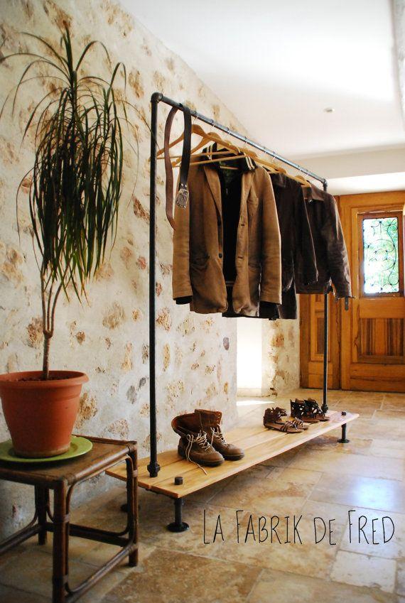 les 25 meilleures id es de la cat gorie portant vetement sur pinterest portant bois portant. Black Bedroom Furniture Sets. Home Design Ideas