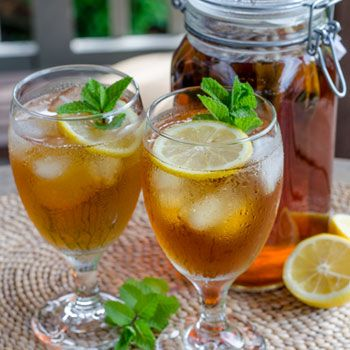 Did you know you could make iced tea in your refrigerator? There's no need to turn on the heat.  Iced Tea with Lemon and Mint --> http://cookeatpaleo.com/iced-tea-with-lemon-and-mint/