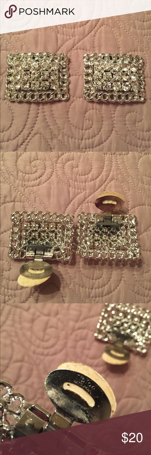Vintage Tip Toe shoe clips Tip Toe shoe clips Tip Toe  Jewelry