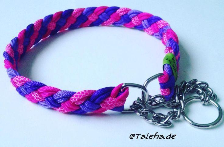 www.Taleha.de Mädchen Zugstopphalsband  #Talehade #paracord #halsband #dogcollar #collar #dogs #dog #hunde #handmade #selfmade by taleha.de#dogcollar #lacyandpaws