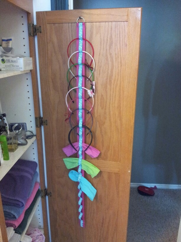 I needed a way to organize headbands and this is what I came up with.