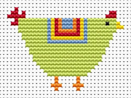 Sew Simple Chicken cross stitch kit