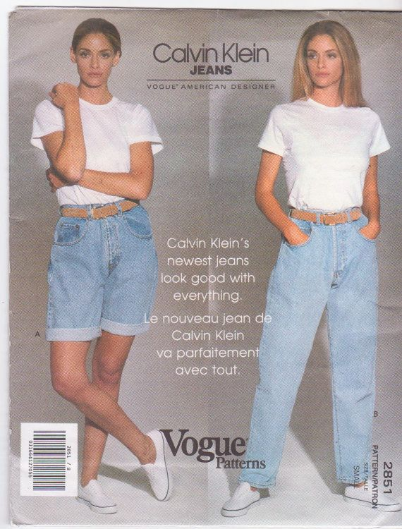 Pattern for Calvin Klein relaxed fit jeans or by beththebooklady
