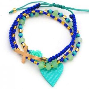 Pulsera Corazón Cruz | Dulce Encanto accesorios para mujer.  www.dulceecanto.com - Tienda online de accesorios para mujer - Compra tus accesorios desde la comodidad de tu casa u oficina #accesorios #aretes #collares #pulseras #bolsos #bisuteria #moda #fashion #colombia