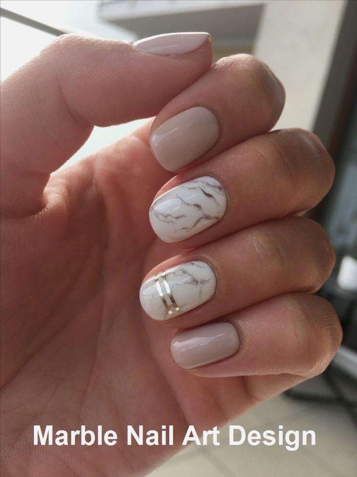 25 Marble Nail Design mit Water & Nail Polis #nail…