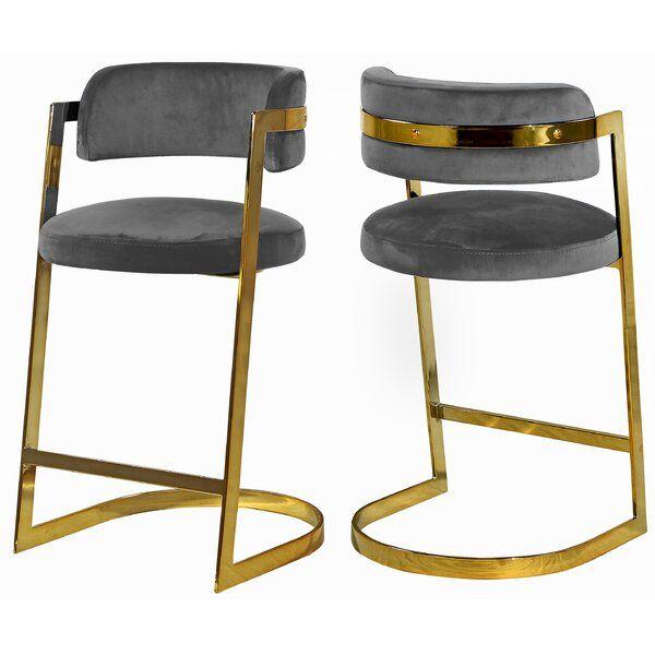Jarrow 26 Bar Stool Bar Stools Meridian Furniture Black Bar