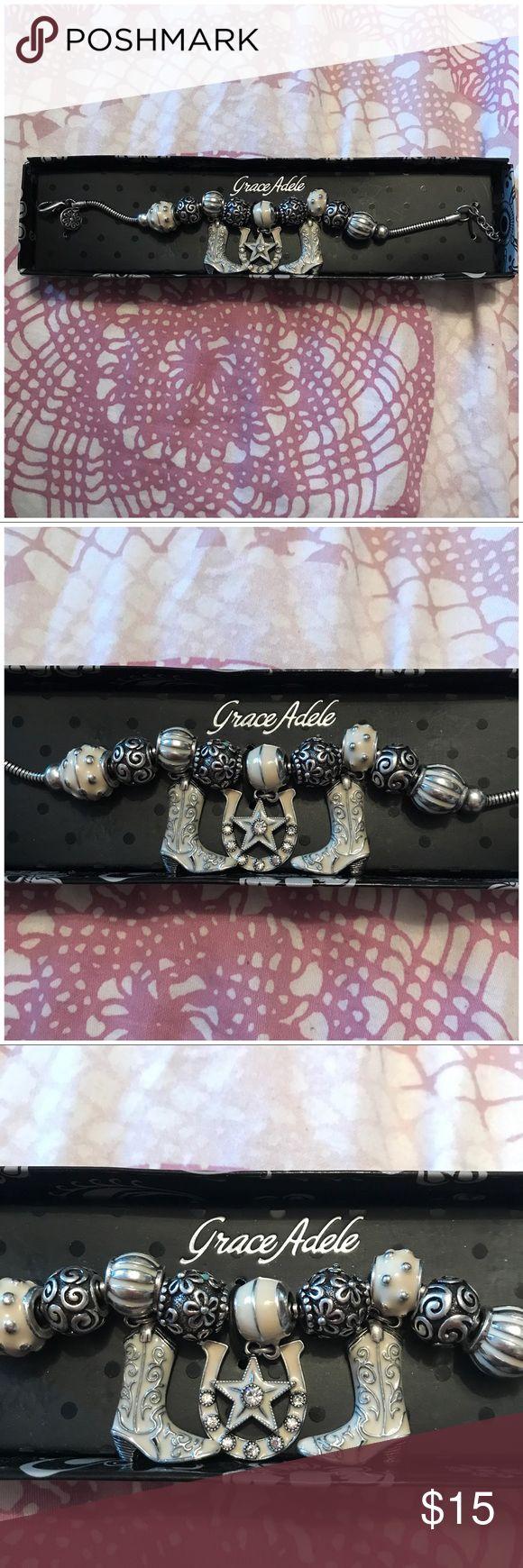 Grace Adele Cowgirl Stone Bracelet Super Cute Charm Bracelet Grace Adele Jewelry Bracelets