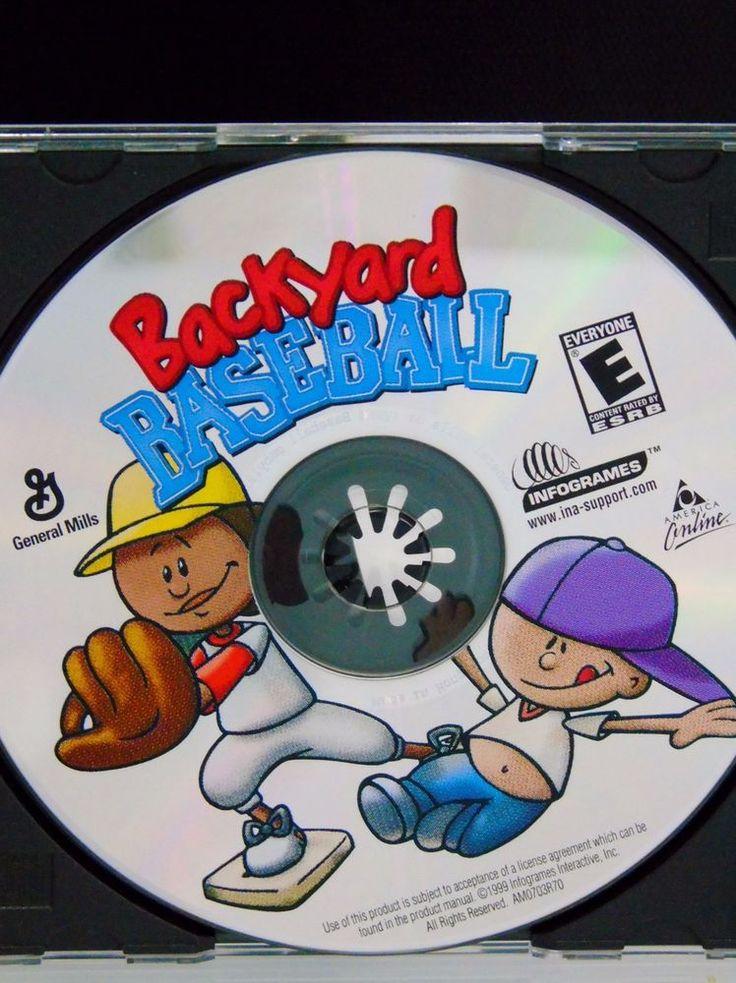 Backyard Baseball Video Game 1999 Infogrames Platform Windows Mac OS 9 & below  | Video Games & Consoles, Video Games | eBay!