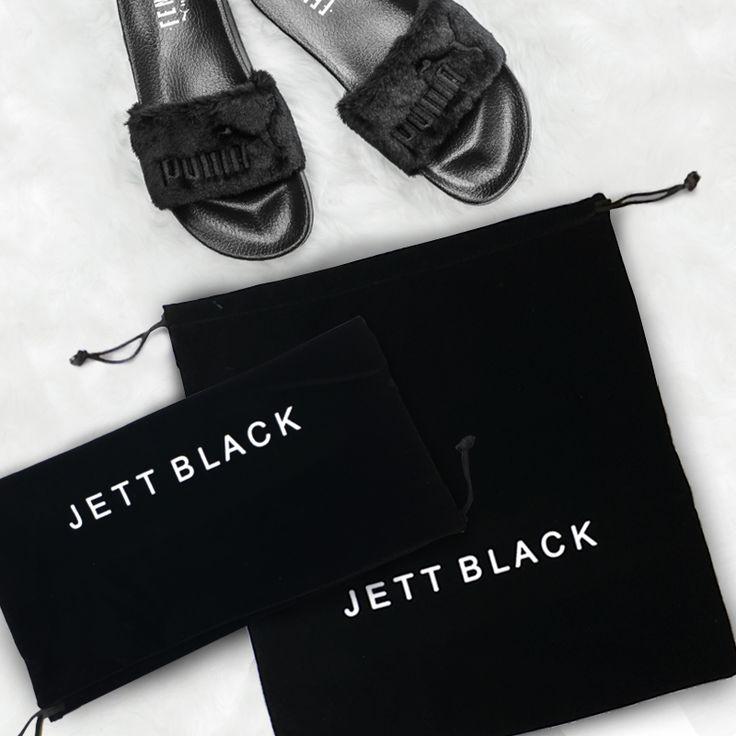 Organise Your Packing In Style_2 Pack Jett Black Velvet Shoe Pouches - Shop Online#PackingTips #Jetsetter