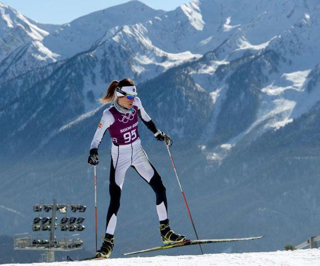 Laura Orgué Esquí de fondo · 10ª en 30 km. · 25ª en skiathlon · 28ª en 10 km. clásico #sochi2014