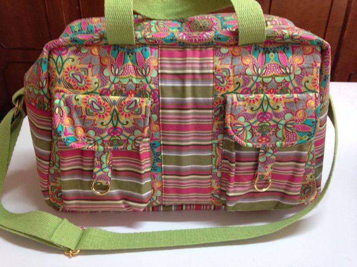 Bolsa De Tecido Para Notebook : Bolsa para viagem vila do patchwork tecidos renata