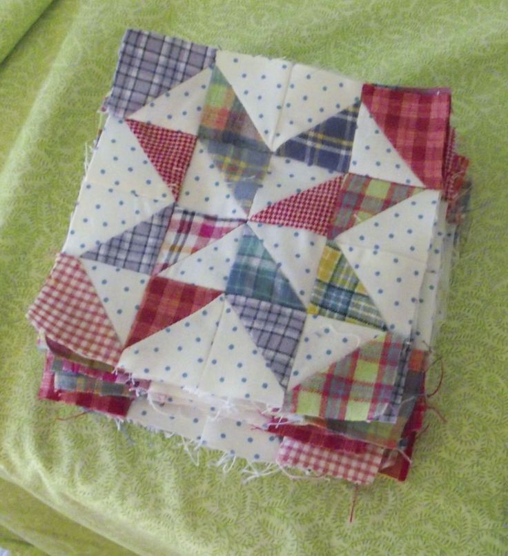 I'm starting to sound like a broken record here, but I've been sewing up my friend Denise's waste triangles again! She gave me these a ...