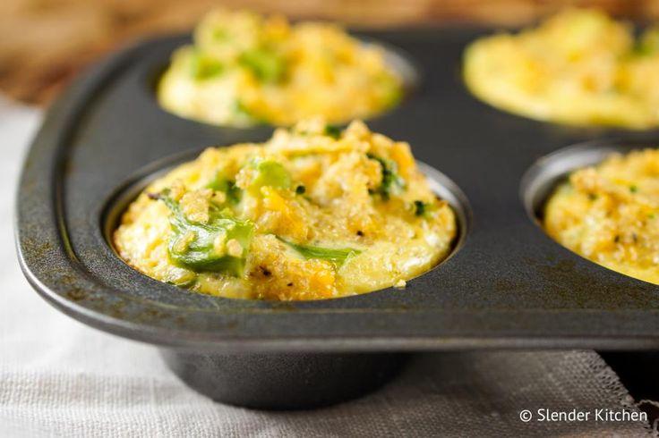 Broccoli Cheddar Quinoa Egg Muffins
