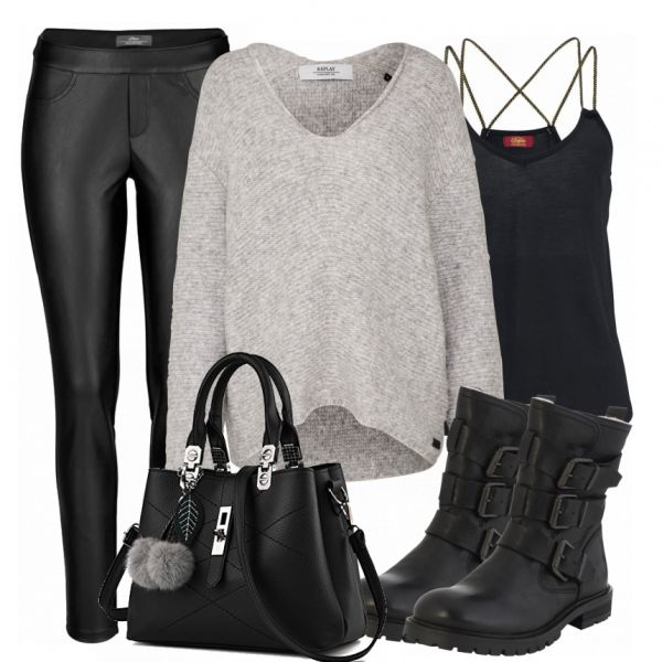 Autumn Outfits: CasualRock at FrauenOutfits.de ___ #booties #herbst #winter #frauenmode