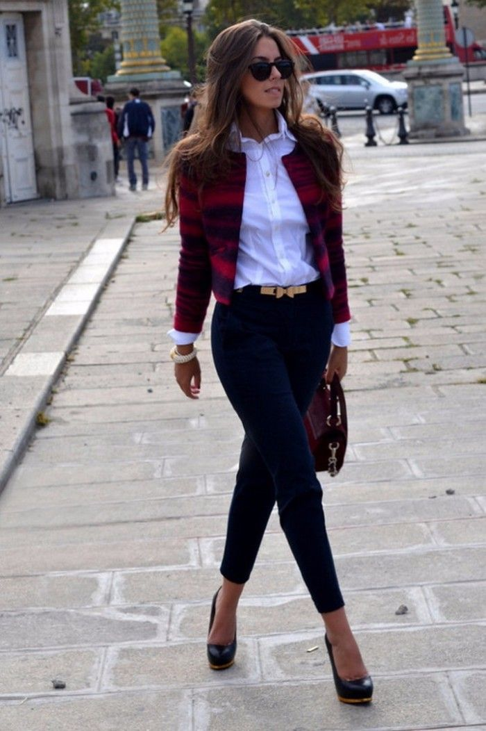 streetstyle outfit flannel blazer + black skinny                                                                                                                                                                                 More