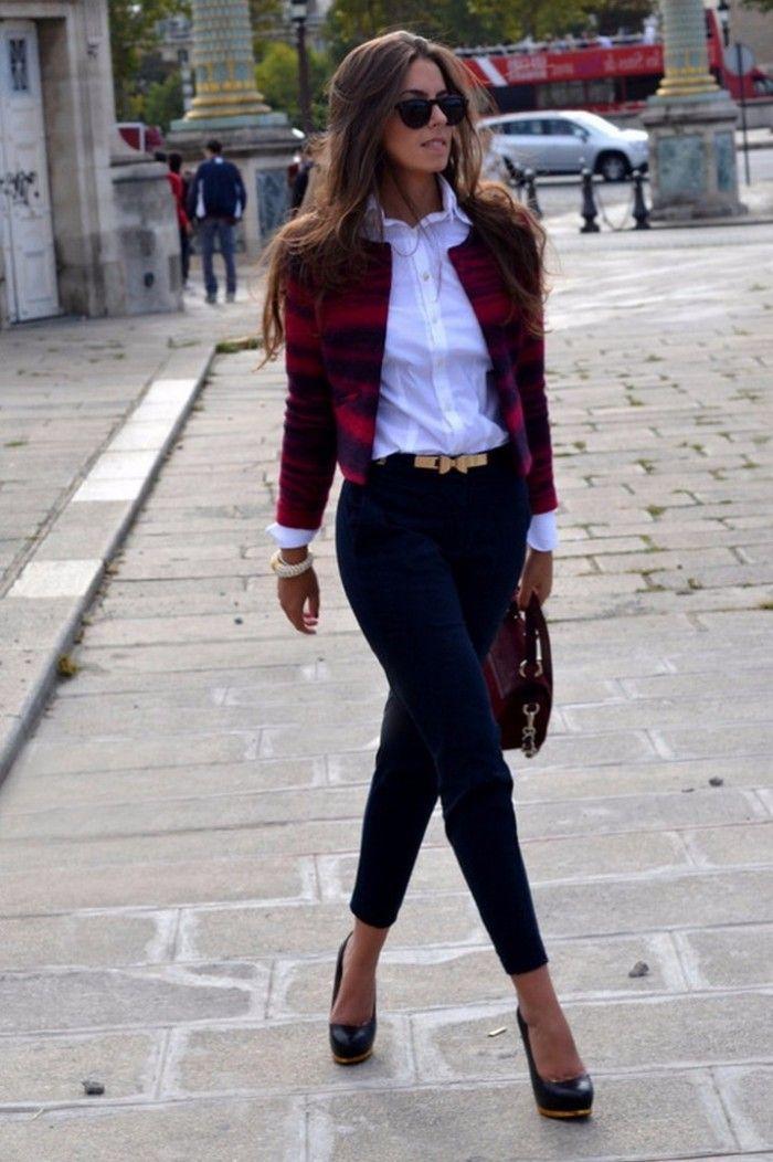 streetstyle outfit flannel blazer + black skinny