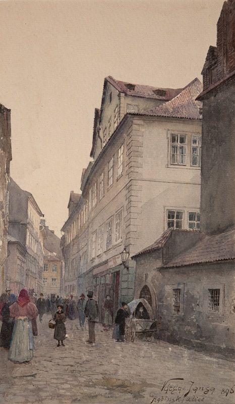 Václav Jansa, Rabínská ulice, 1898, zdroj: Muzeum hlavního města Prahy