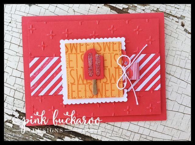 Cool Treats Sparkly Card Video | Pink Buckaroo Designs | Bloglovin'
