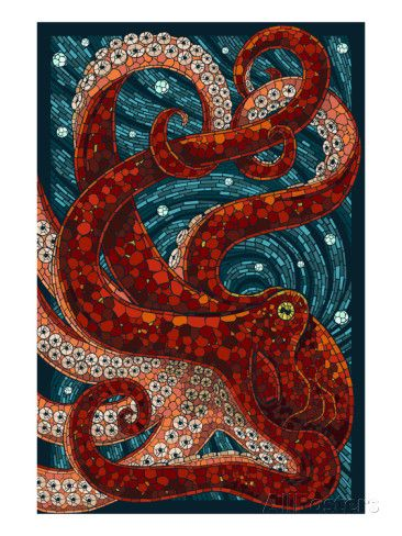 Octopus - Paper Mosaic Posters