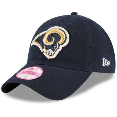 Los Angeles Rams New Era Women's Team Glisten 9TWENTY Adjustable Hat - Navy