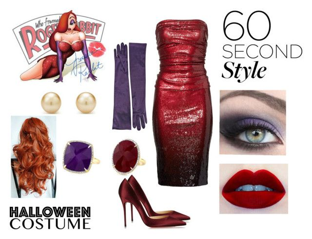 """Jessica Rabbit Last Minute Halloween Costume"" by samyangelo on Polyvore featuring moda, Donna Karan, Christian Louboutin, Tiffany & Co. y Disney"