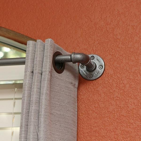 best 25 pipe curtain rods ideas on pinterest. Black Bedroom Furniture Sets. Home Design Ideas