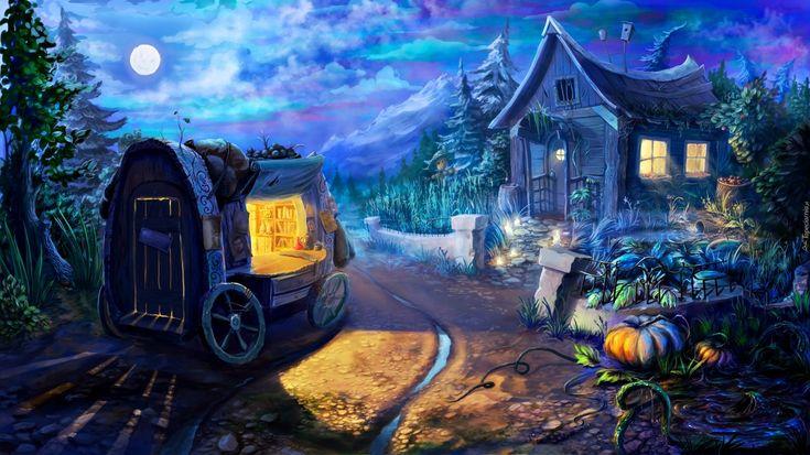 Edycja Tapety: Chatka, Halloween