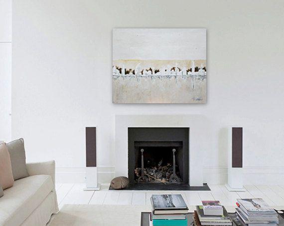 "Natural Skyline, Painting,Abstract, Original Painting, Canvas wallArt ,Original Artwork,Wall Decor ,39,4""x31,5""Handmade by Andrea Janssen"