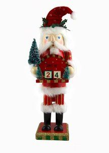 "14"" Festive Santa Claus with Christmas Countdown Blocks Holiday Nutcracker by CC Christmas Decor. $24.99. Christmas Countdown Santa Claus NutcrackerItem #11104Traditional Santa Claus nutcracker holds a red platform to place attached numbered blocks to countdown the days until ChristmasStands on a sturdy, square baseFor decorative purposes onlyDimensions: 14""H x 5""W x 3.5""DMaterial(s): wood/polyester/fabric"