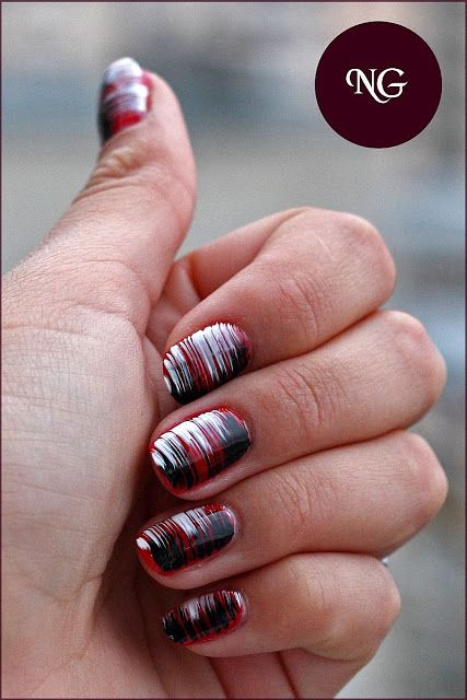 Fan Brush nail art ideas - this would be great in other colors