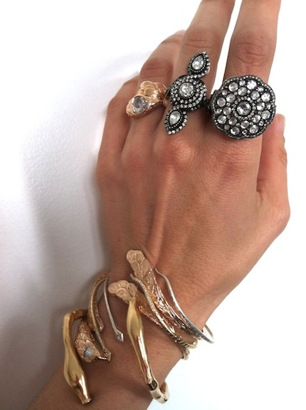 rings and cuff from Atelier Minyon and Kathy Rose - pinned by RokStarroad.com ~ unleash your inner RokStar - fashion, pop and mental health