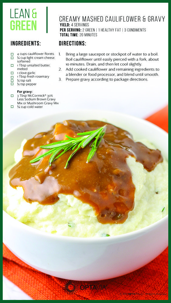 Mashed cauliflower & gravy